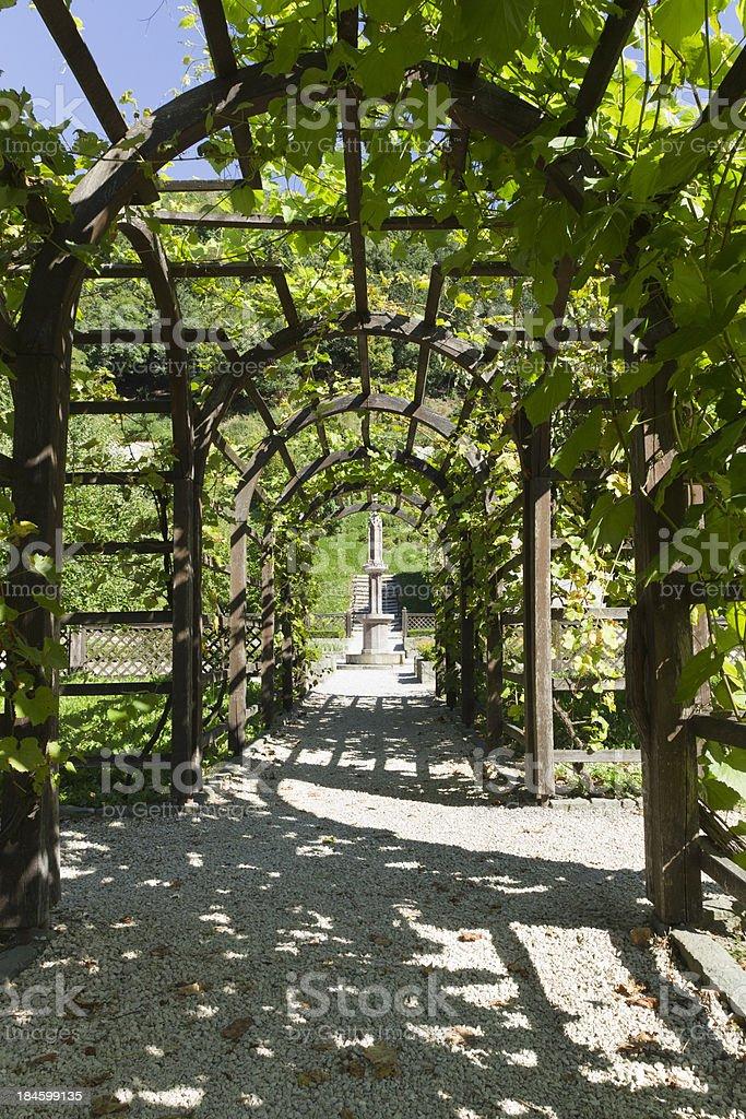 Garden of Matthias Corvinus stock photo
