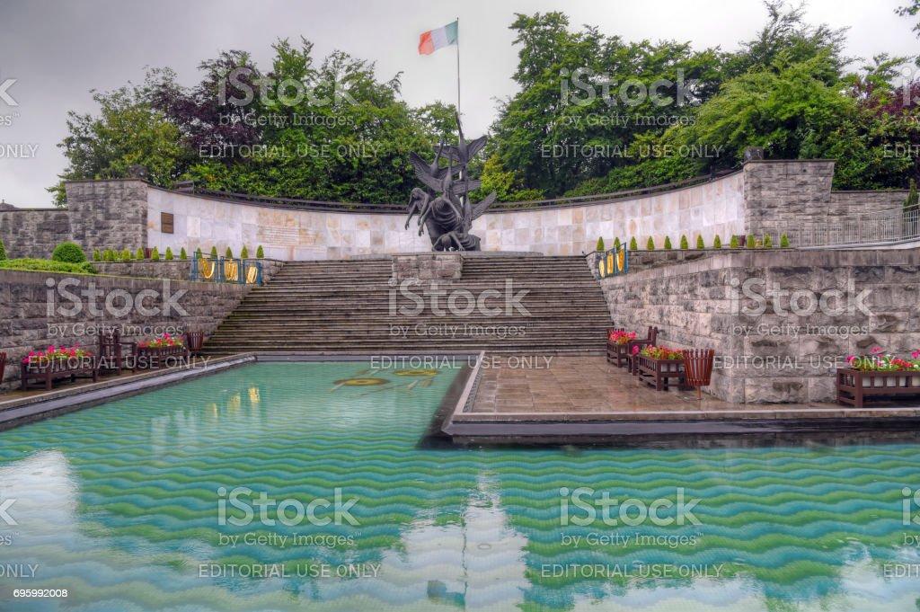 Garden of Remembrance in Dublin stock photo