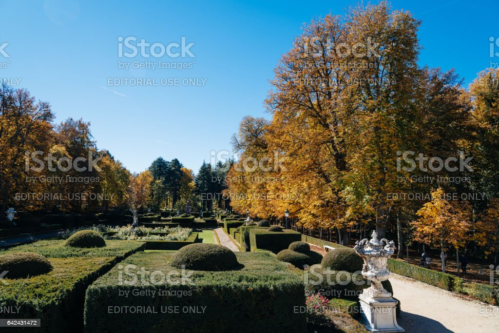 Garden of Royal Palace stock photo