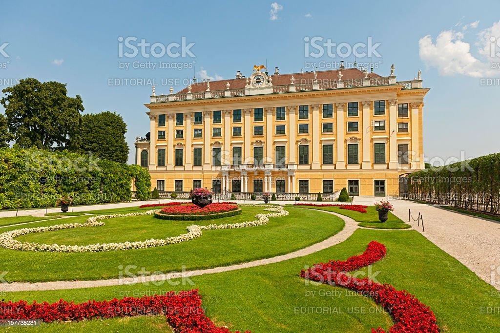 Garden of Schonbrunn Palace stock photo