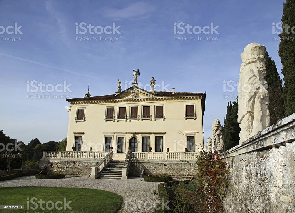 garden of the famous Venetian Villa Valmarana ai nani stock photo