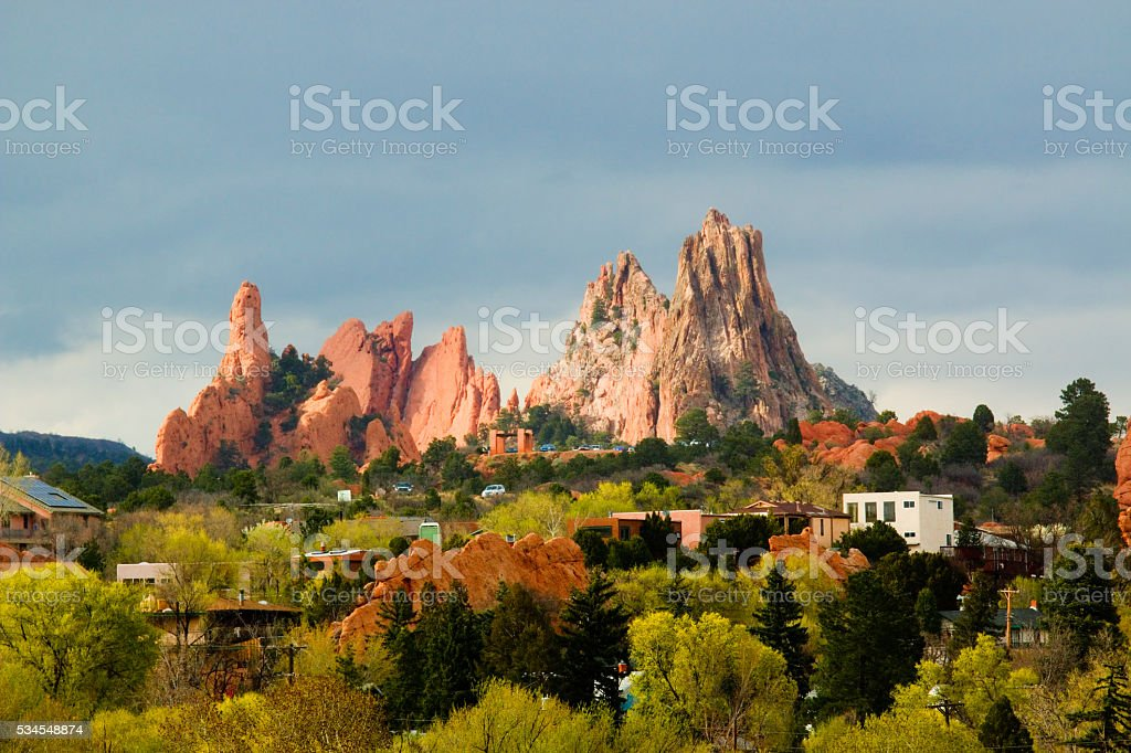Garden of the Gods Colorado stock photo
