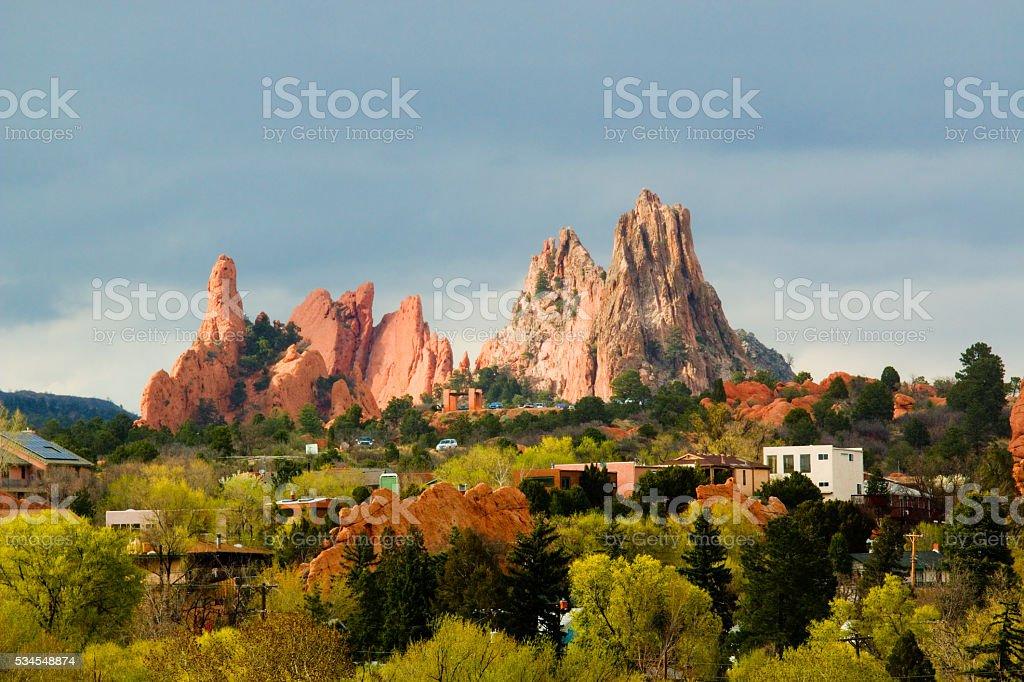Garden of the Gods Colorado stock photo