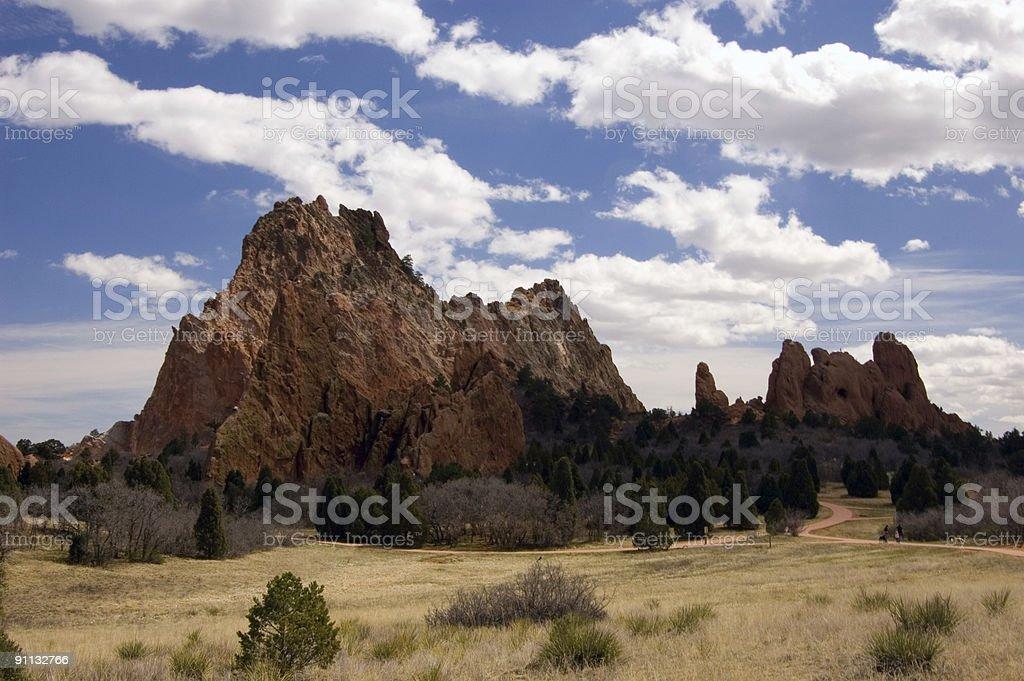 Garden of the Gods, Colorado royalty-free stock photo