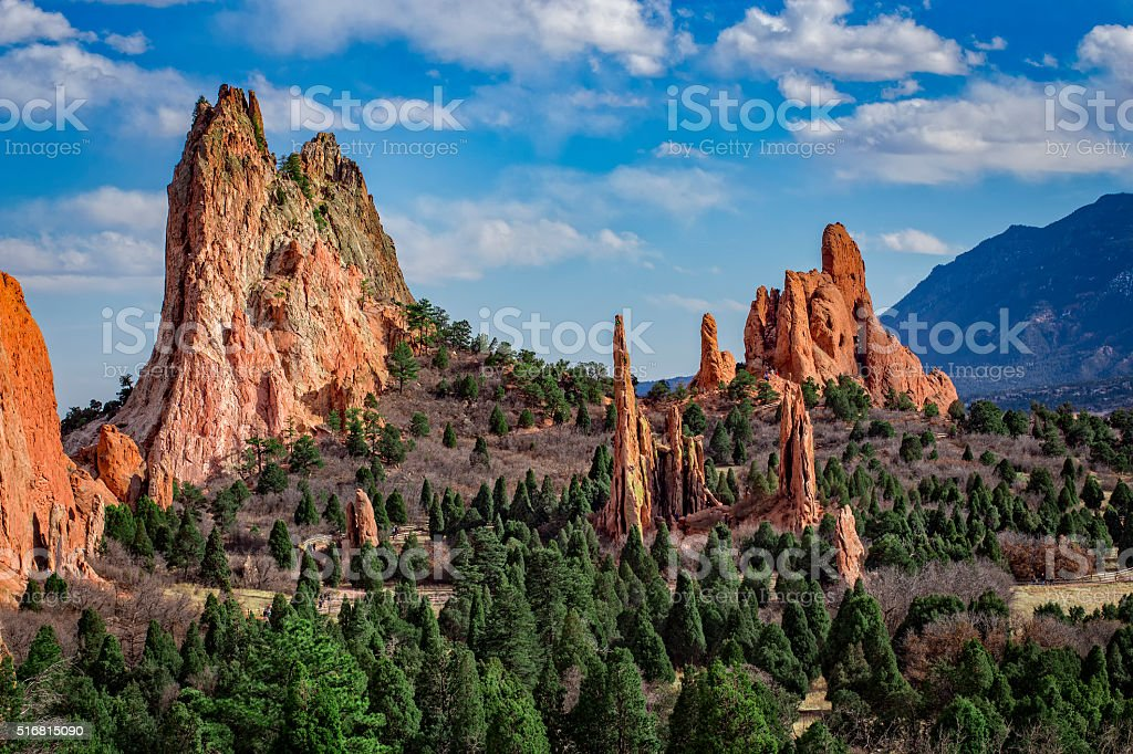 Garden of the Gods, Colorado Springs, Colorado. stock photo