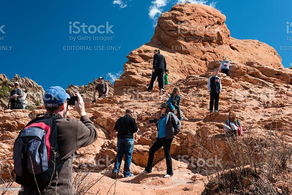 Garden of the Gods, Colorado Springs stock photo