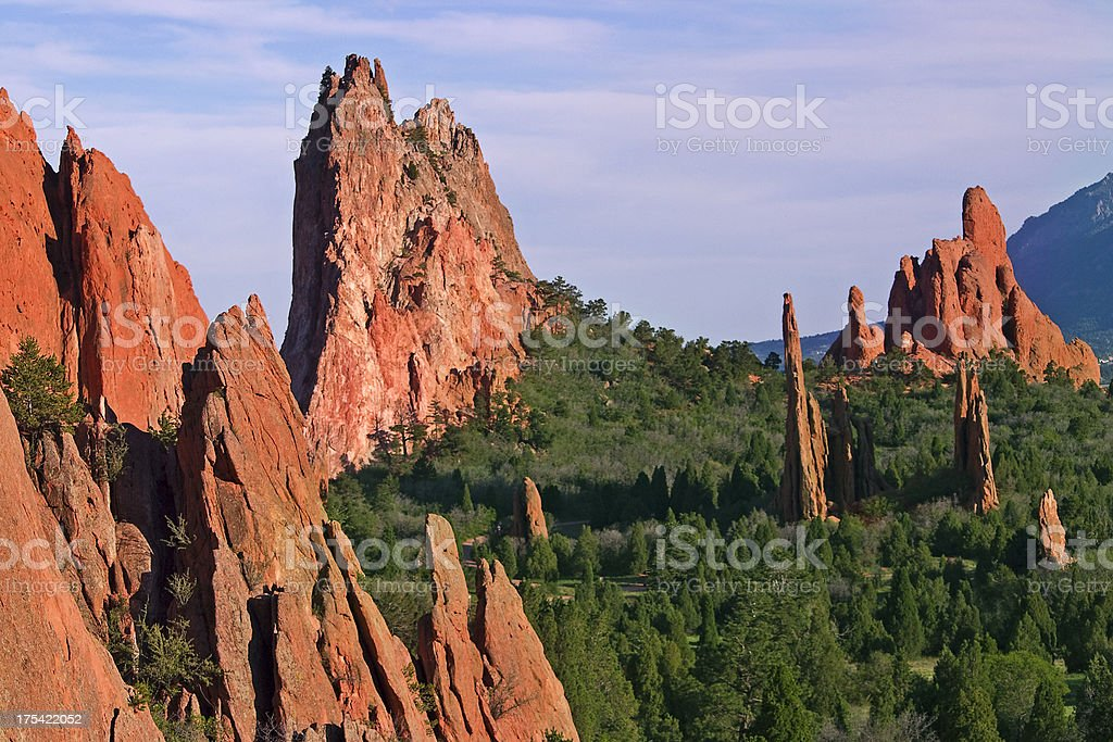 Garden of the Gods Fountain Formation stock photo