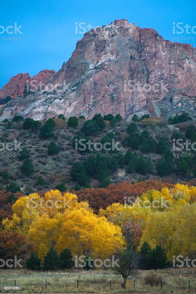 Garden of the Gods in Autumn stock photo