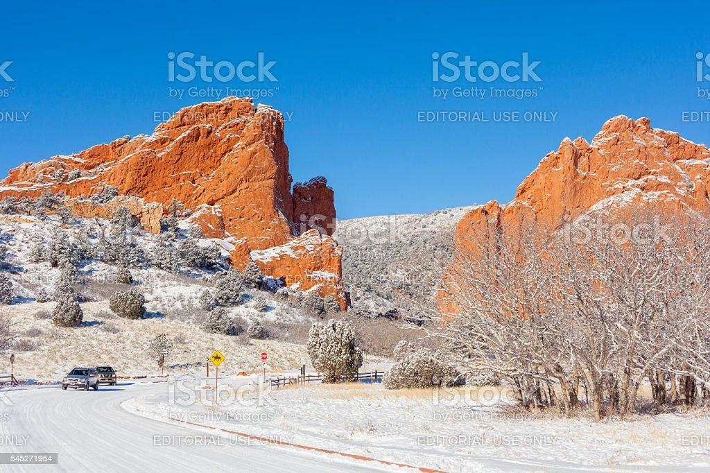 Garden of the Gods in Colorado Springs stock photo