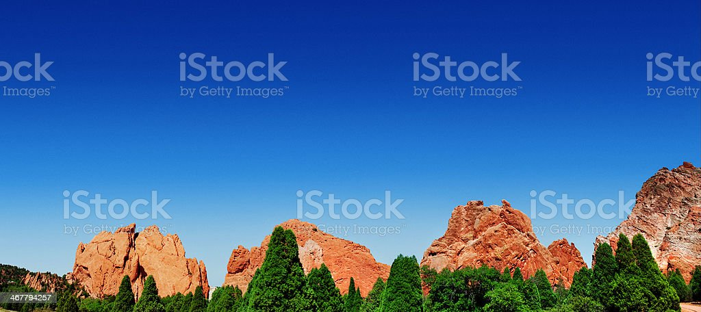 Garden of the Gods Panoramic - Colorado, USA stock photo