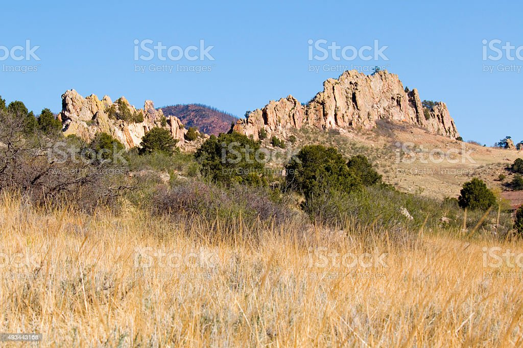 Garden of the Gods Park in the Morning stock photo