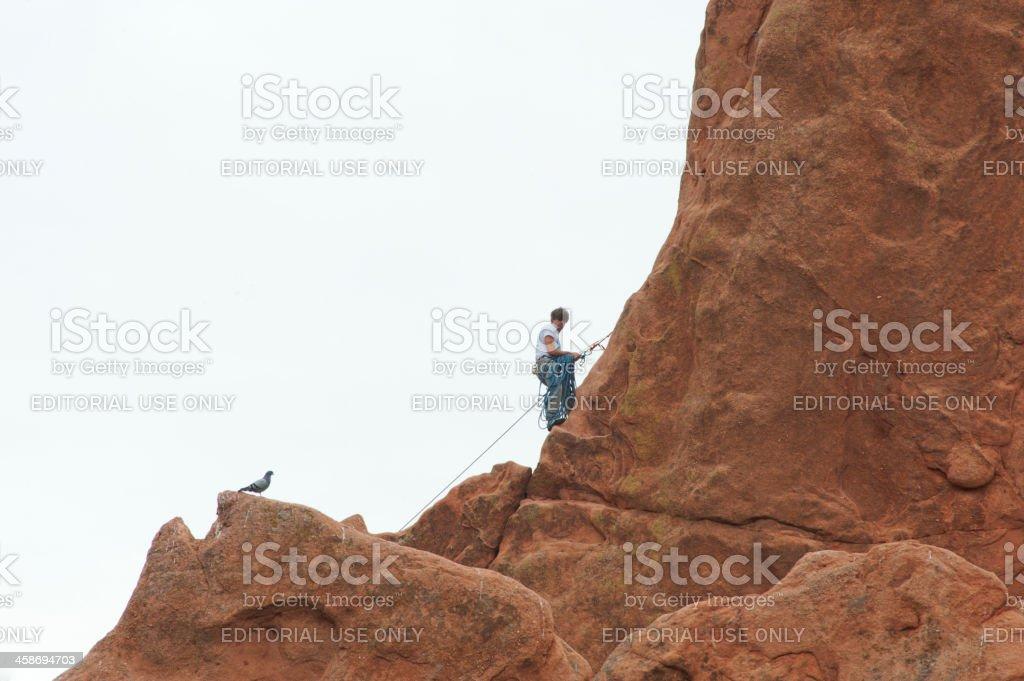 Garden of the Gods Rock Climber stock photo