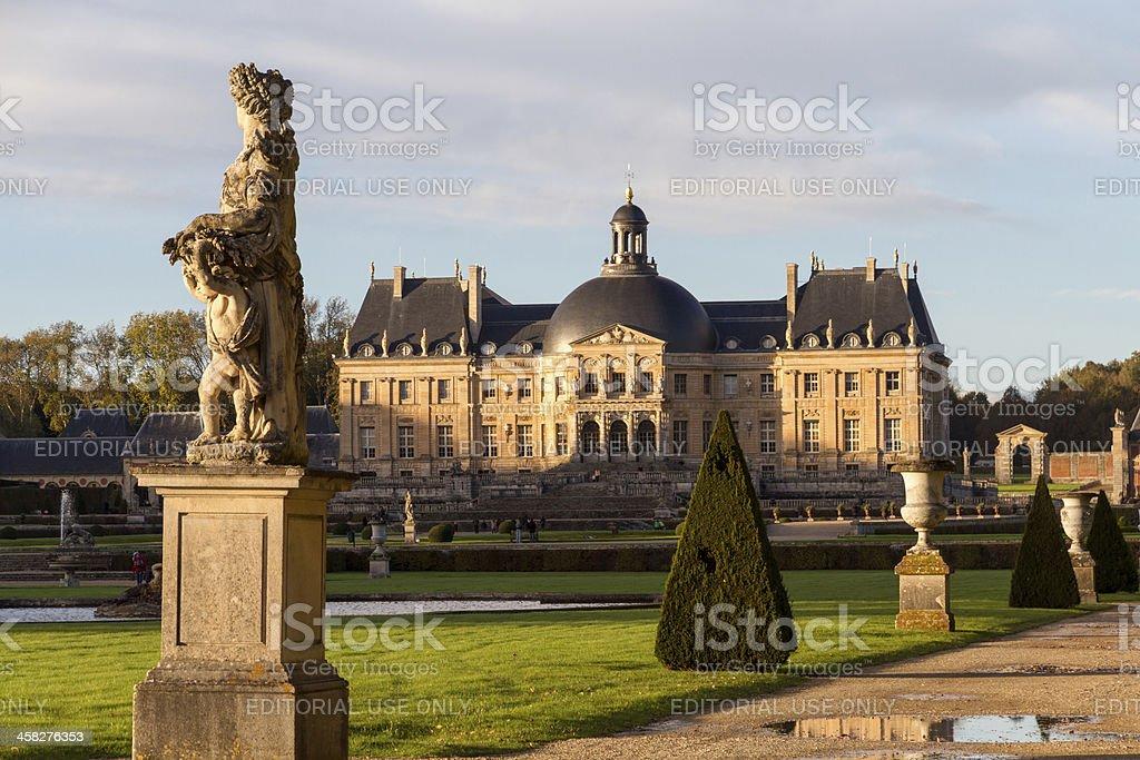 Garden of Vaux-le-Vicomte castle stock photo