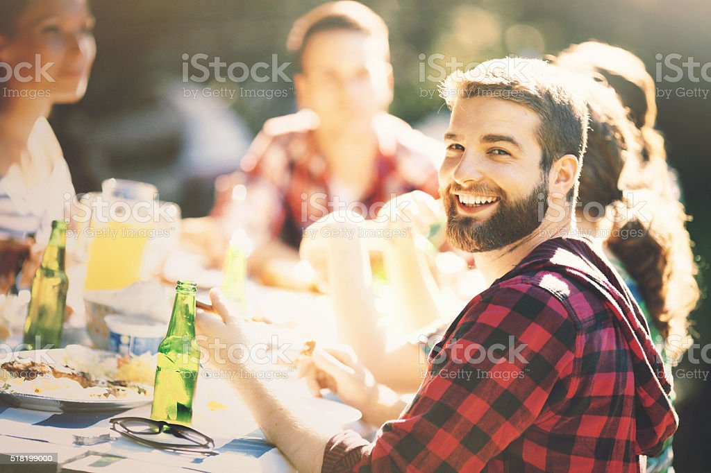 Garden party. stock photo