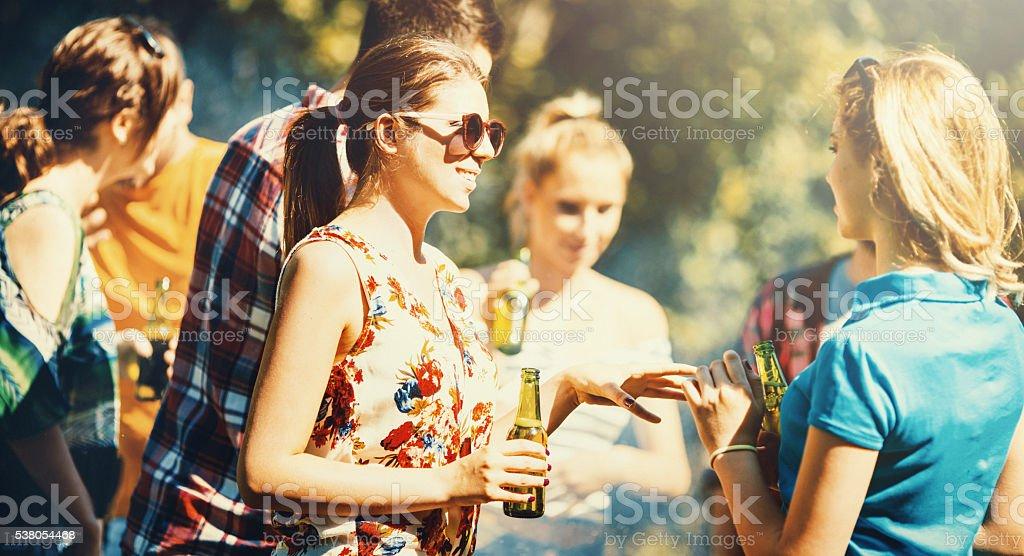 Garden party. stock photo