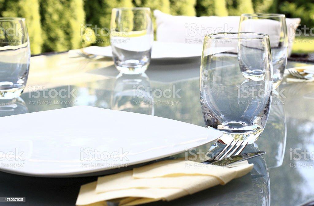Garden party table royalty-free stock photo
