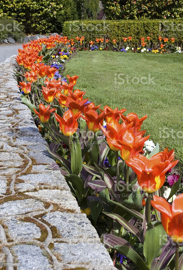 Garden Path in Government House, Victoria, B.C. royalty-free stock photo