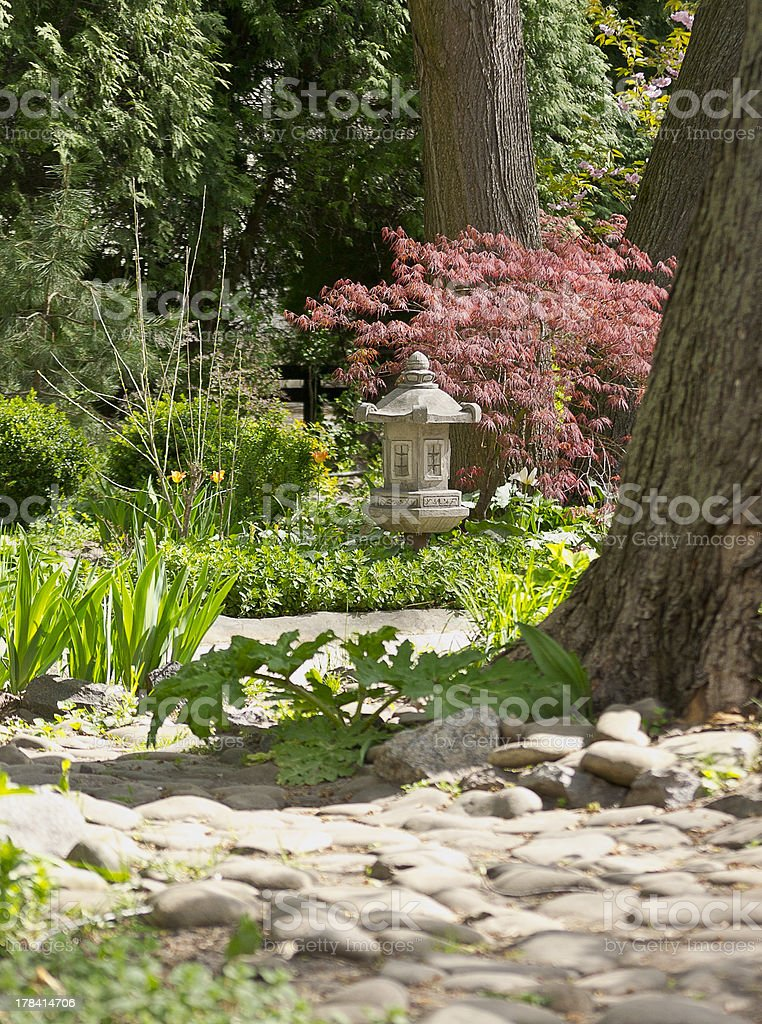 garden path in the China style royalty-free stock photo