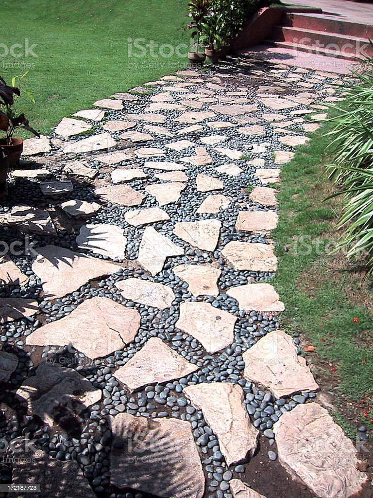 garden pathway royalty-free stock photo