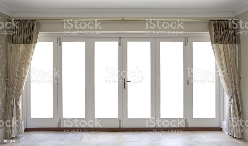 garden patio doors stock photo
