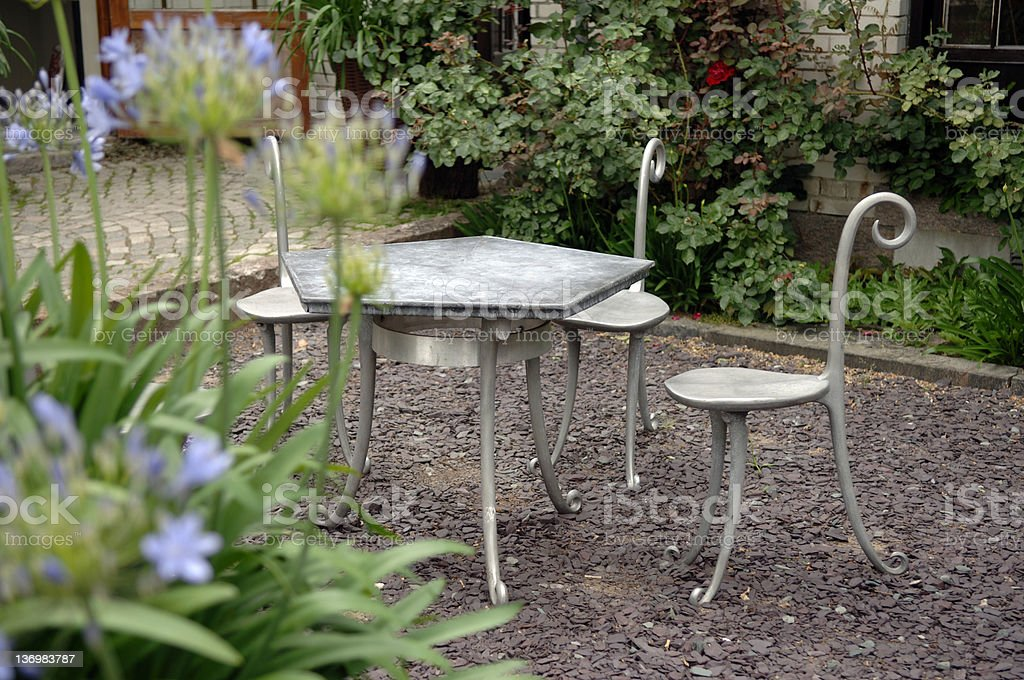 Garden patio stock photo