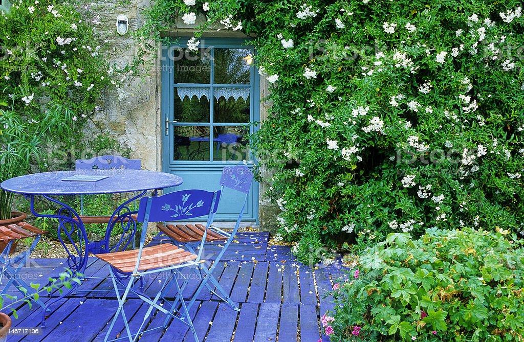 garden patio royalty-free stock photo