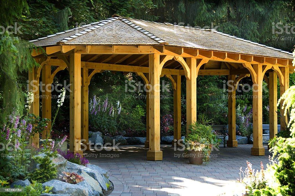 Garden Pavilion stock photo
