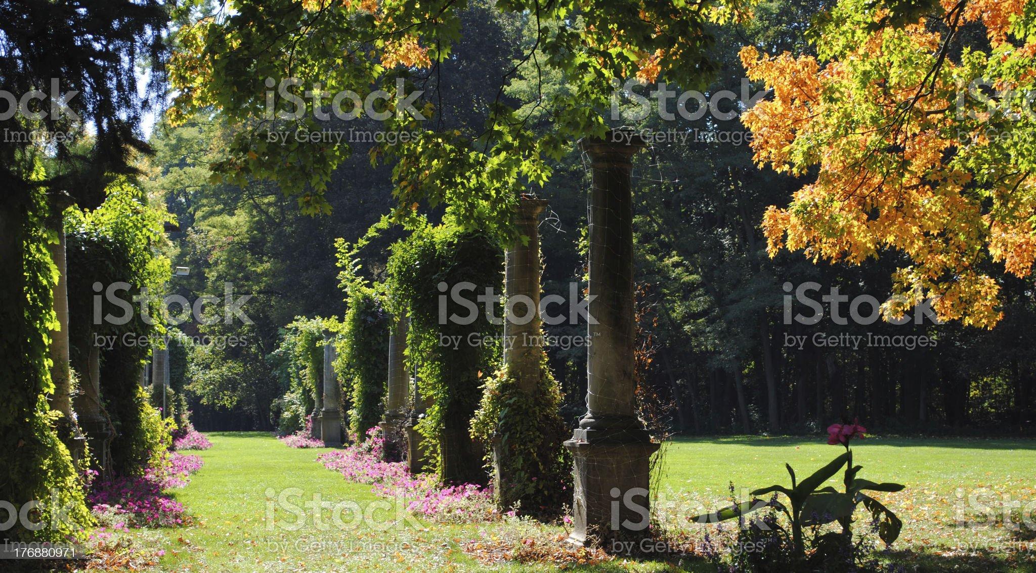 Garden Pillars royalty-free stock photo