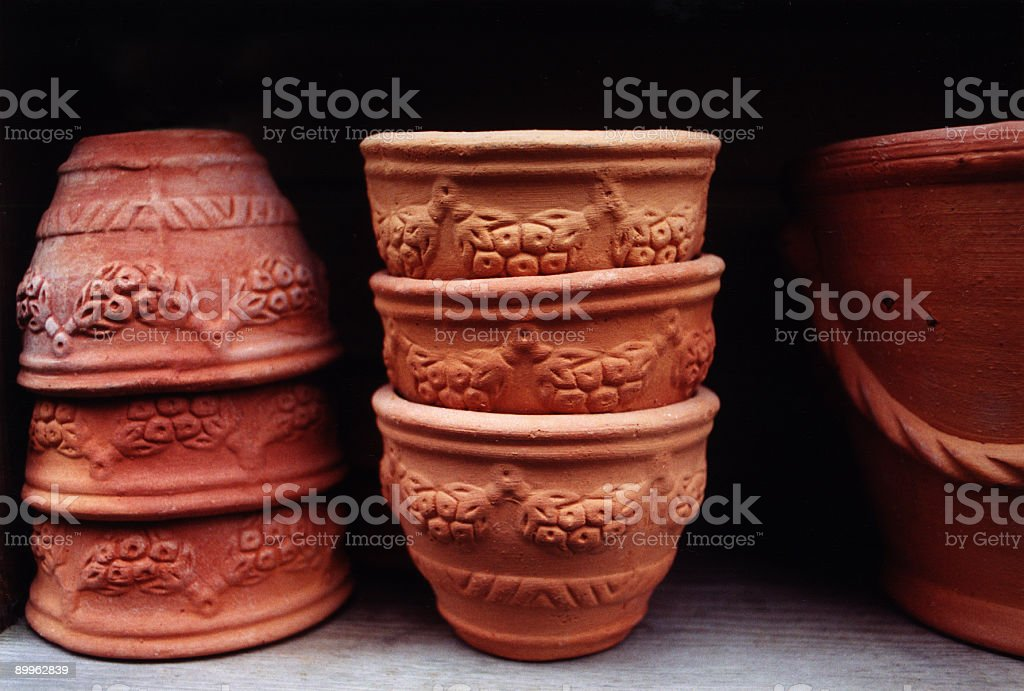 Garden Pottery stock photo