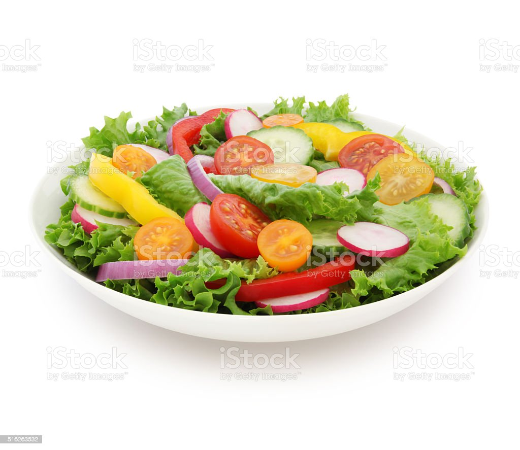 Garden Salad (with path) stock photo