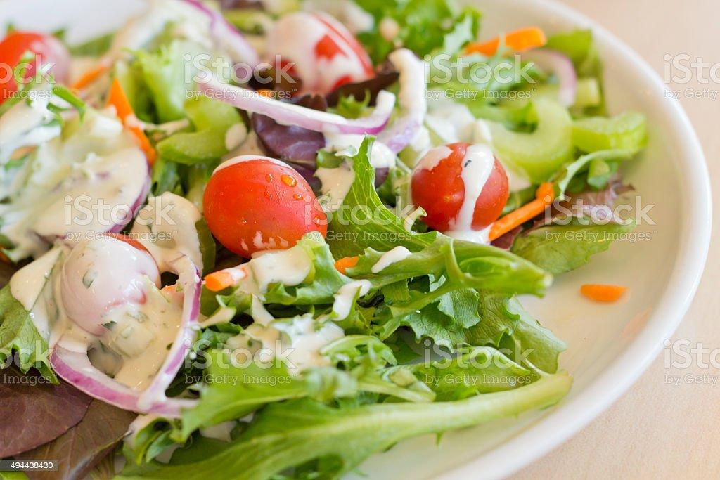 Garden Salad Ranch stock photo