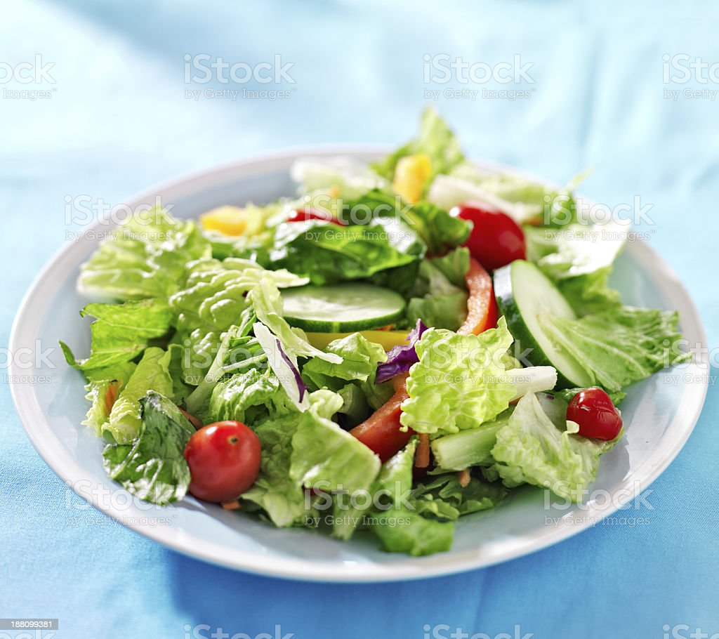 garden salad with fresh vegetables stock photo