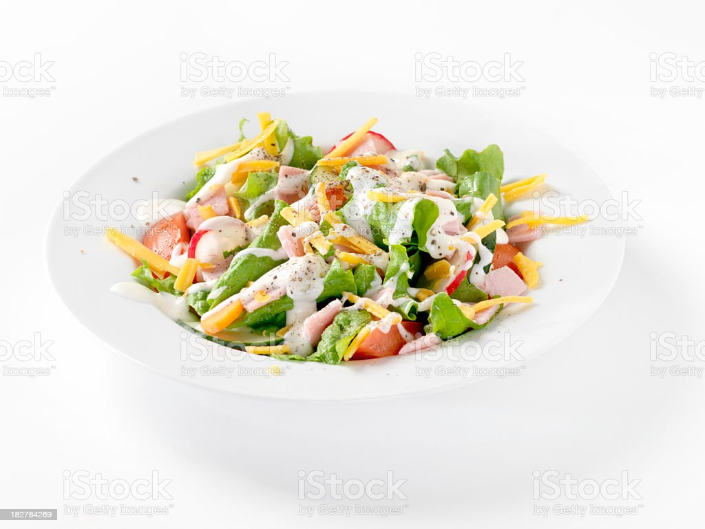 Garden Salad with Ham royalty-free stock photo