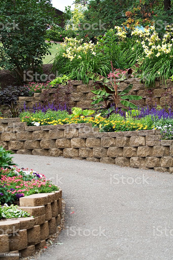 Garden scene stock photo
