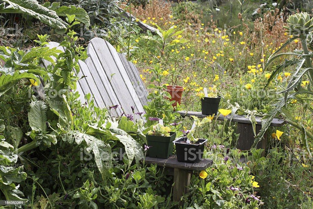 Garden Seating stock photo