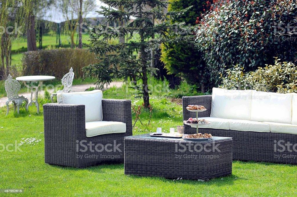 Garden set stock photo