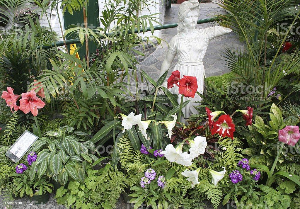 Garden setting royalty-free stock photo