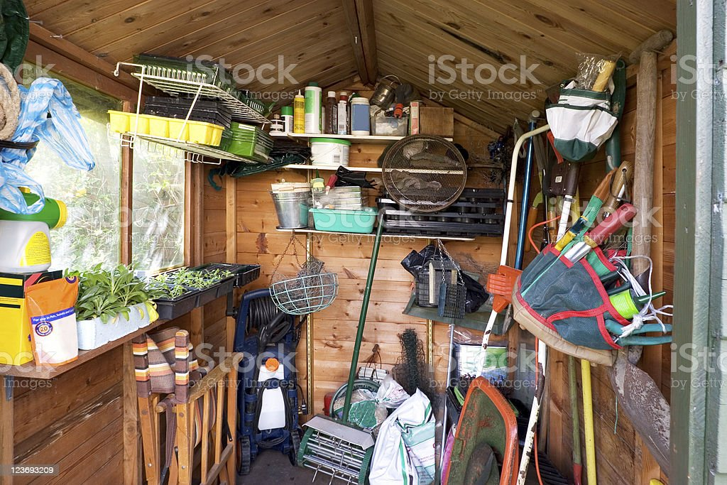 Garden Shed stock photo
