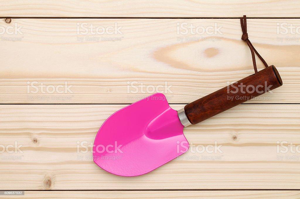 garden shovel stock photo