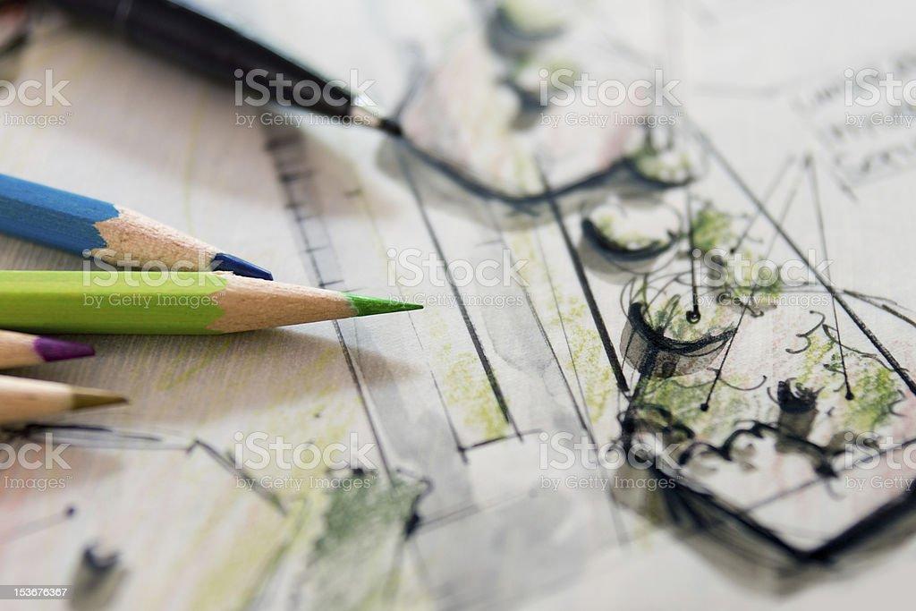 Garden Sketch Design royalty-free stock photo