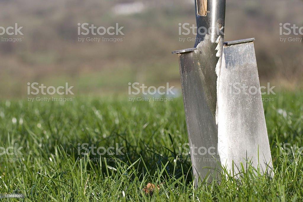 Garden Spade royalty-free stock photo