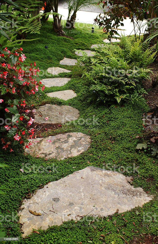 Garden Steps royalty-free stock photo