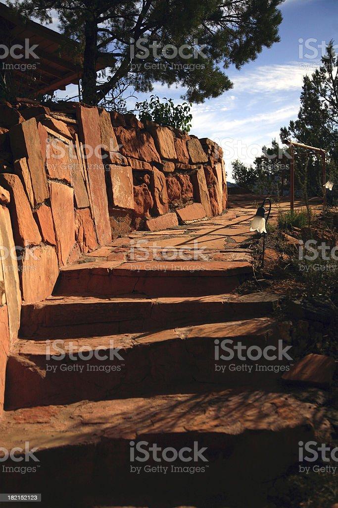 Garden Stone Stairway stock photo
