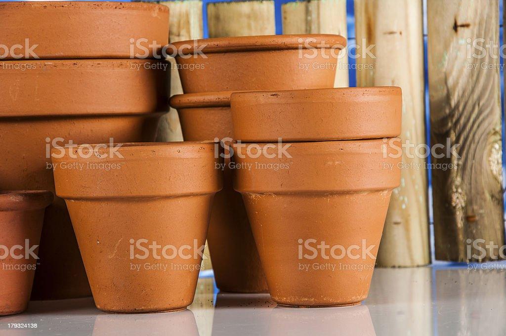 Garden stuff on bright blue background royalty-free stock photo