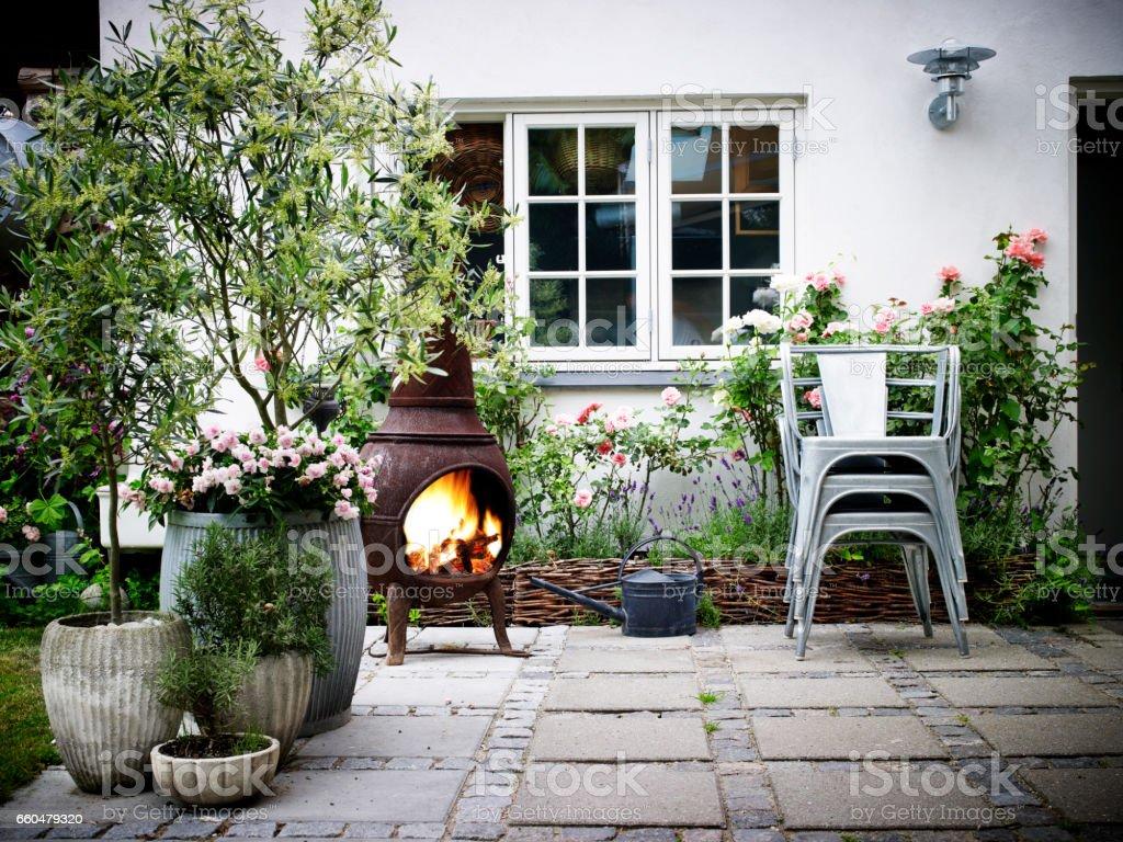 Garden Terrace stock photo