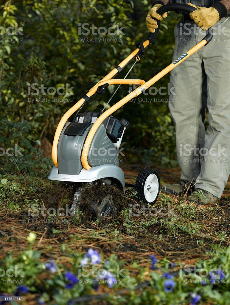 Garden Tiller royalty-free stock photo