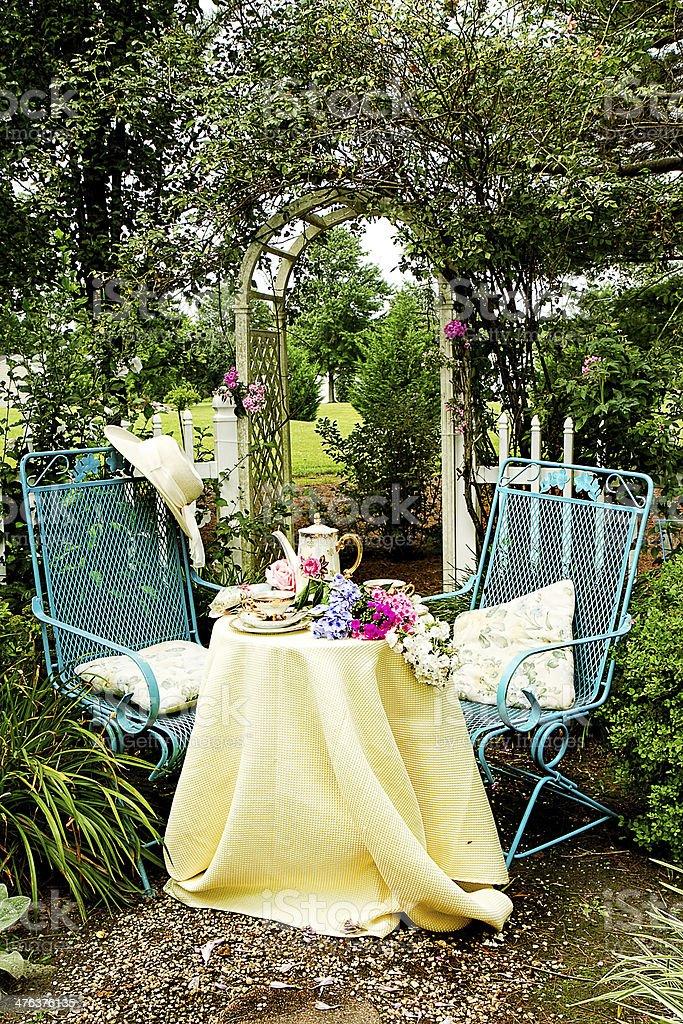 Garden Trellis Tea Luncheon royalty-free stock photo