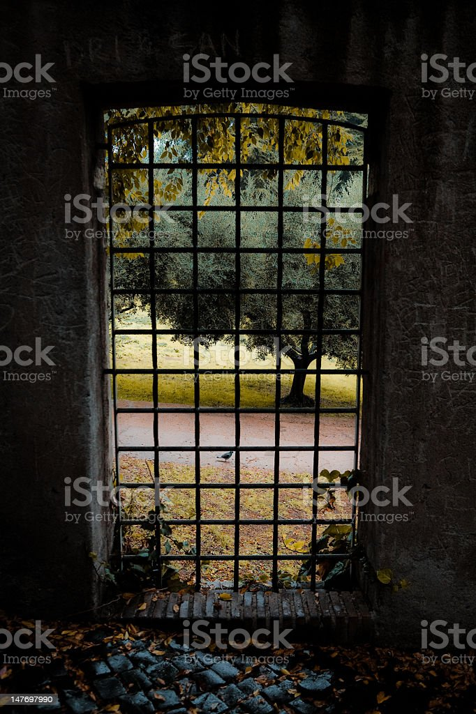 Vista sul giardino foto stock royalty-free