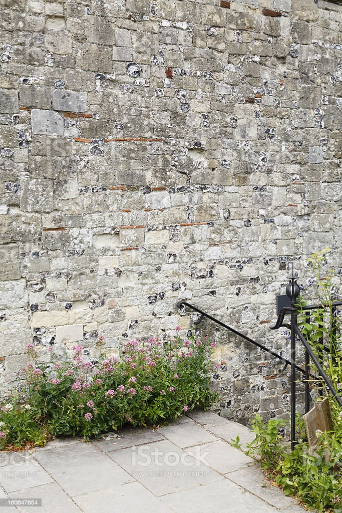 Garden wall copyspace royalty-free stock photo
