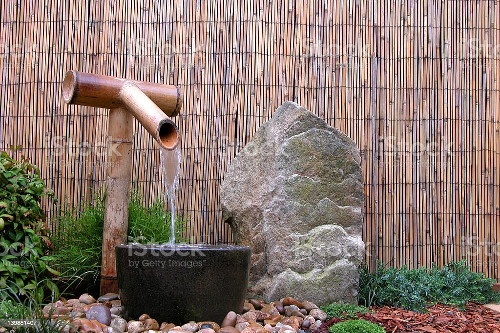 Garden Water Feature stock photo